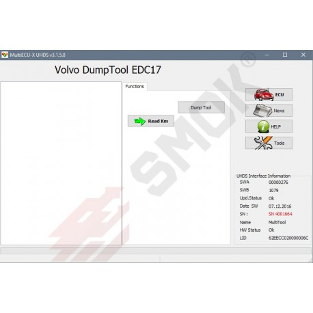 VO0011 Volvo Change KM EDC 17 Dump Tool, ABS Coding