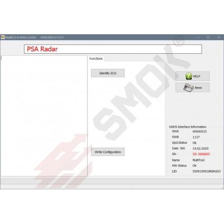 PT0018 Radar PSA configuration change, coding UDS by OBD