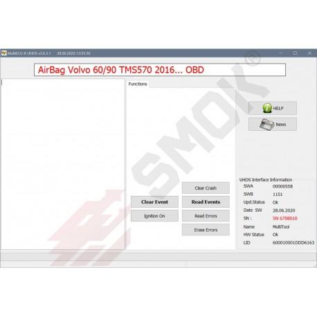 EU0039 Volvo AirBag modules TMS570 OBD