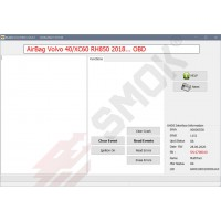EU0040 Volvo AirBag modules RH850 Clear Crash/Events OBD