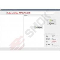 EU0036 SubaruAirBag Airbag Modules on R5F617xx Read Flash by CAN (module conector) or OBD