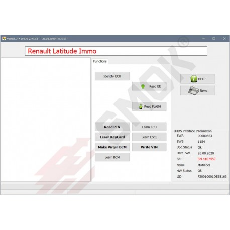RT0033 Renault Card/Immo programming OBD