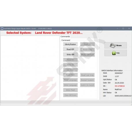 LR0006 Range Rover Defender TFT 2020-... OBD