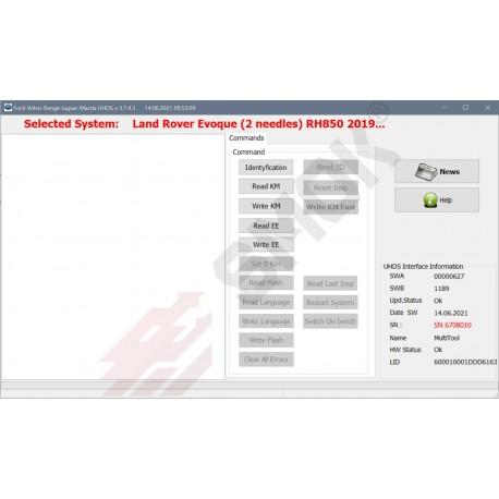 LR0007 Land Rover Evoque, Discovery, Defender RH850+93c86 (2 needles) 2019-... OBD