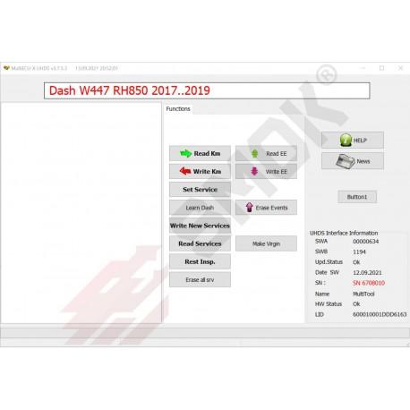 MS0014 Mercedes W470 RH80 2018-... Dashboard OBD
